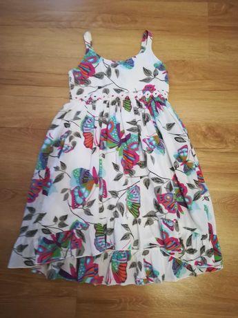 Sukienka lato bawełna r. 122 128