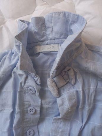 Koszula 62-68 zip zap
