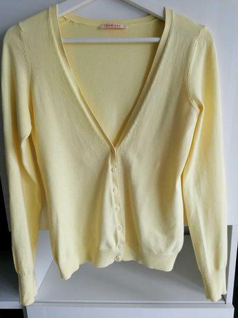 Sweterek żółty rozpinany Camaieu