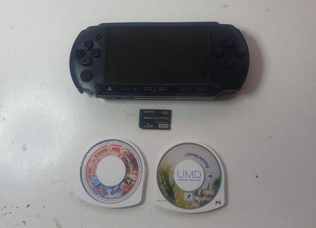 Consola Sony PSP-E 1004 + 2 Jogos (avariada)