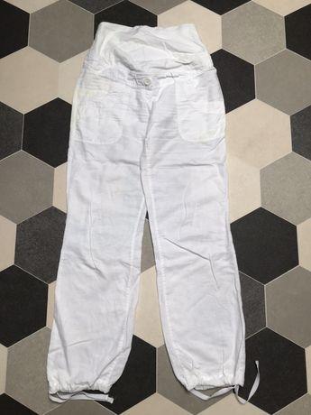 Lniane spodnie ciążowe H&M S 36