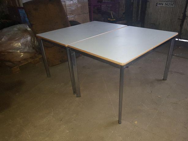Stół 120x80 biały, nogi stalowe, masywny