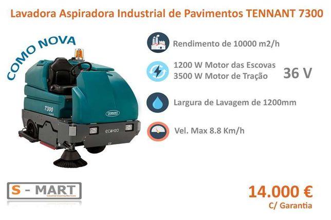 Lavadora Aspiradora de Pavimentos TENNANT 7300