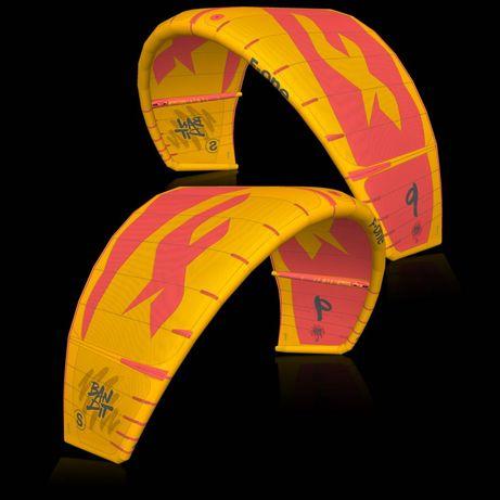 2x kites 7M e 9M F-One Bandit S + 1x barra Linx 38/45cm 2020 como novo