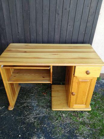 biurko drewniane, sosnowe