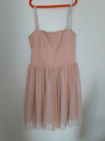 Sukienka pudrowy róż - rozmiar M/L