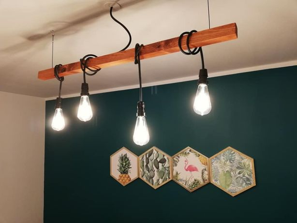 Lampa żyrandol loft industrial retro edison DIY