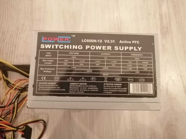 lc power zasilacz 600w do kompa