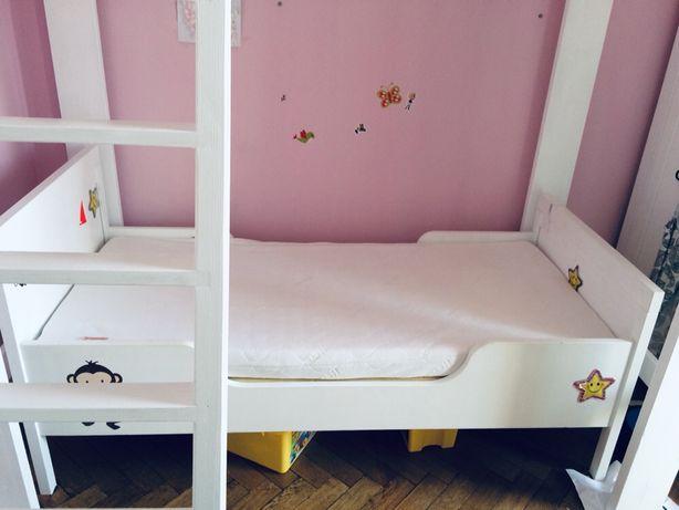 Łóżko dziecięce Ikea z materacem lateksowym Hevea