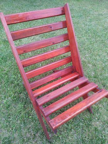 Krzesło drewniane, Ogrodowe , Rozkładane