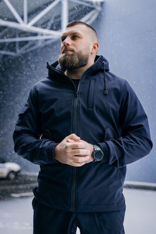 Мужской спортивный костюм тактическая куртка и штаны осенний SOFTSHELL