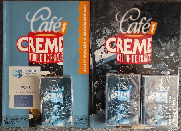 Sprzedam podręcznik do francuskiego Cafe Creme z kasetami i ćwicz.