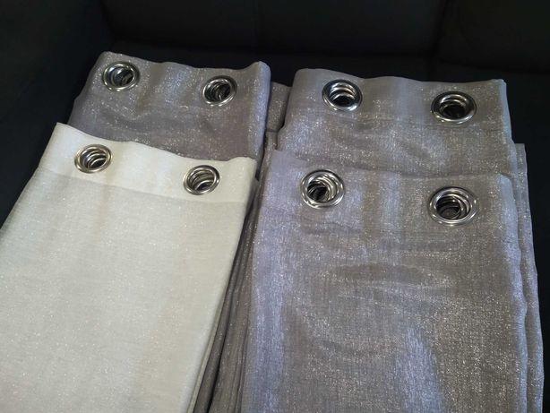 Cortinas de argolas com brilho