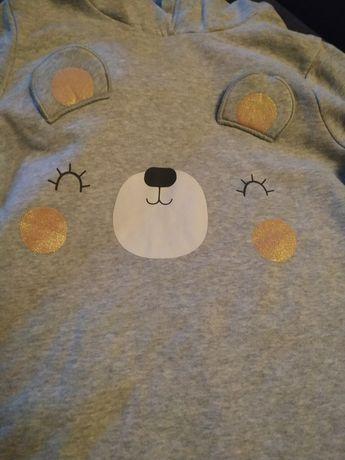 Szara bluza z uszkami