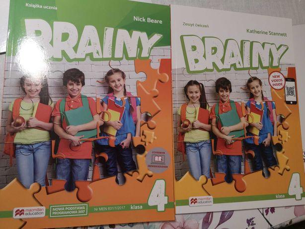 Brainy 4, zestaw zeszyt ćwiczeń i podręcznik, macmillan