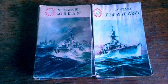 miniatury morskie Okręty Polskie wojenne w latach 20-45