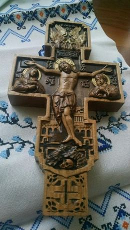 Хрест настінний тетраподний, розп'яття, крест.