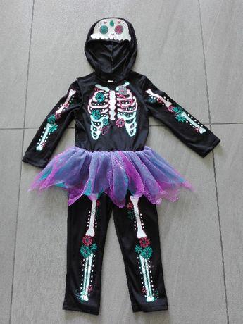 strój karnawałowy szkielecik różne 2-8 lat