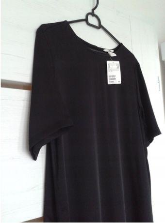 H&M Sukienka 44 XXL czarna długa maxi midi