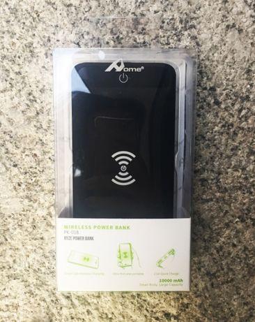 PowerBank Wireless Charging Qi (10000mAh) com 2 saídas USB e luz LED