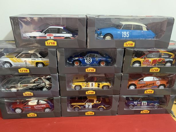 Miniaturas de Rally Escala 1/18 Vários Modelos Altata