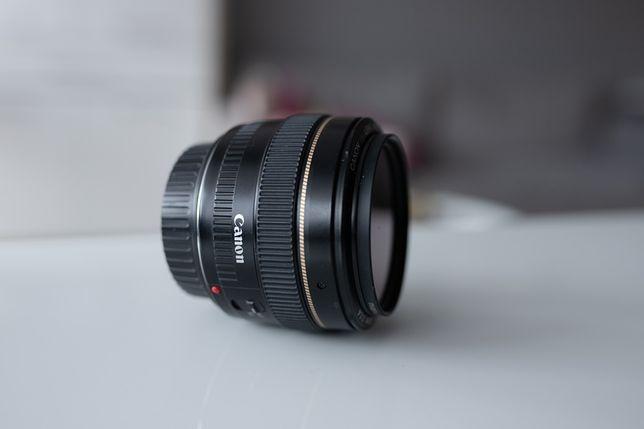 Obiektyw canon 50mm f/1.4 + filtr UV