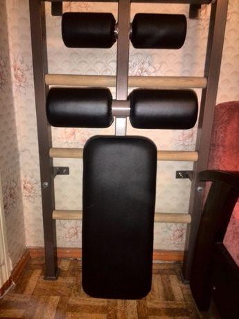 Новая скамья для пресса для шведской стенки