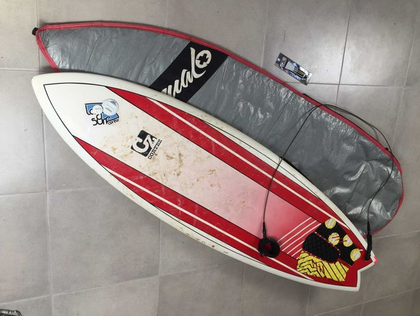 Prancha de surf, mala para prancha e UV resin epoxy