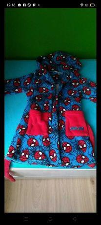 Szlafrok chłopięcy Spiderman mięciutki polarek. 110- 116