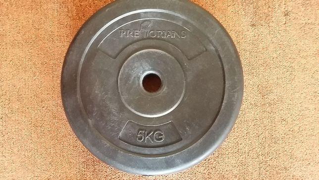Obciążenie, krążki do sztangi - 5kg obudowane