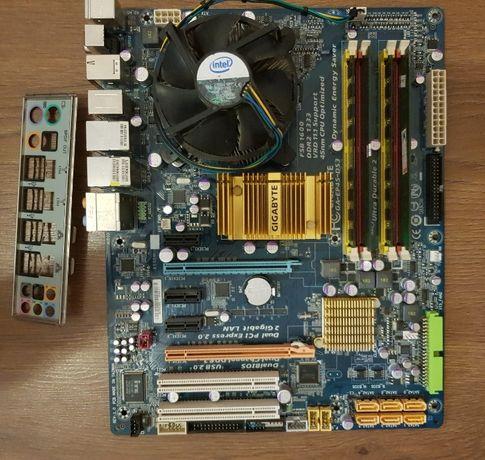 Комплект s775 Gigabyte EP45-DS3 (поддержка XEON) проц память