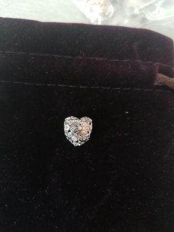 Charms Serce z czterolistna koniczyna 925