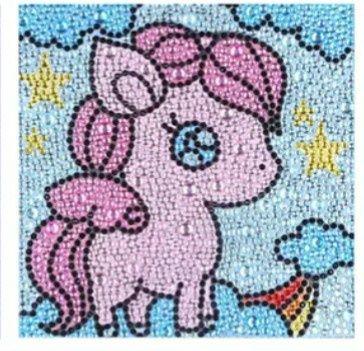 NOWY diamentowa mozaika KONIK dla dzieci dziecka najmłodszych