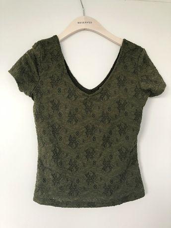Bluza butelkowa zielona khaki top Terranova