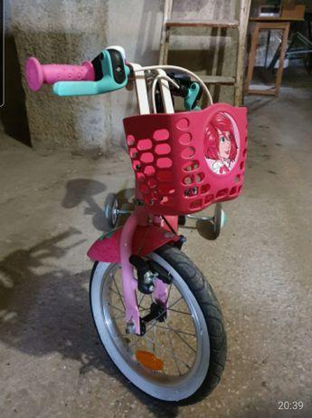 Bicicleta BTWIN com unicórnios mega fofos para criança 3 a 5 anos