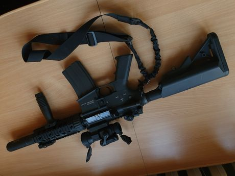 Karabin AEG ASG G&P USMC M4 Special. stan bardzo dobry. Kolimator,