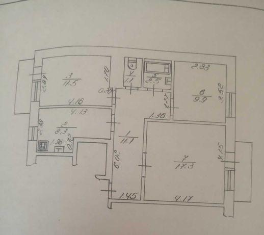 Продам 3 кімнатну квартиру в районі ДПЗ Власник