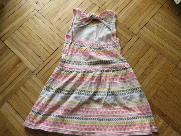 Sukienka Reserved rozm 110, odkryte plecy