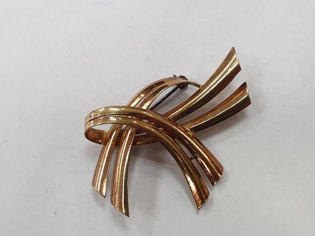 Ciekawa złota broszka damska/ 585/ 5.7 gram/ duża/ sklep Gdynia