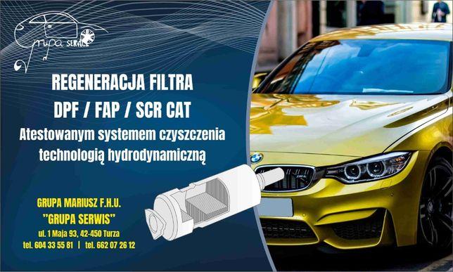 REGENERACJA czyszczenie filtr DPF / FAP / CAT