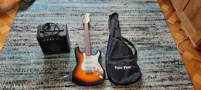 Gitara Elektryczna Ever Play Stratocoaster + wzmacniacz Voice Craft