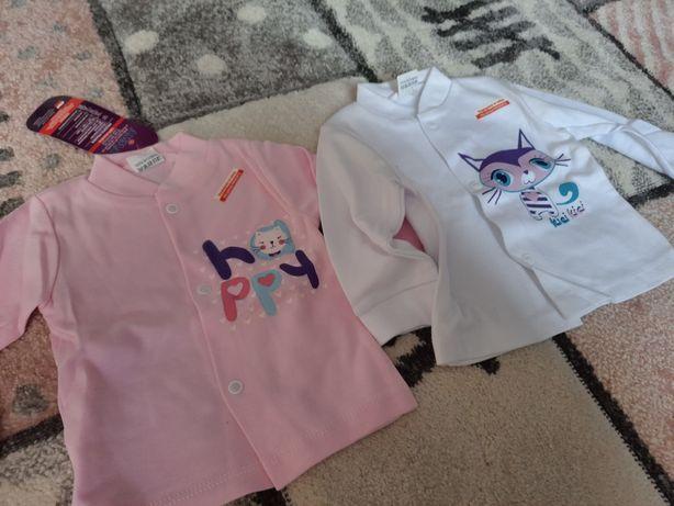 Nowe Bluzki długi rękaw dla bliźniaczek roz 68