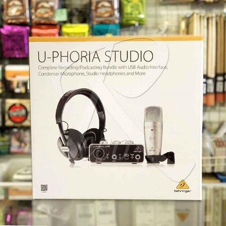 KIT Behringer U-Phoria Studio novo faço envio por CTT