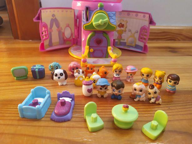 Squinkies domek, figurki, wyposażenie dla dziewczynki
