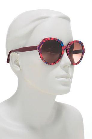 Новые солнцезащитные очки etro et 646s 607 оригинал круглые красные