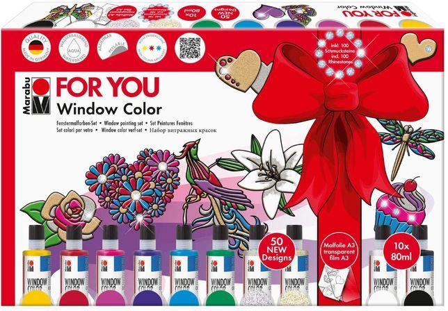 Marabu zestaw farb do okien 10 x 80 ml - OPIS