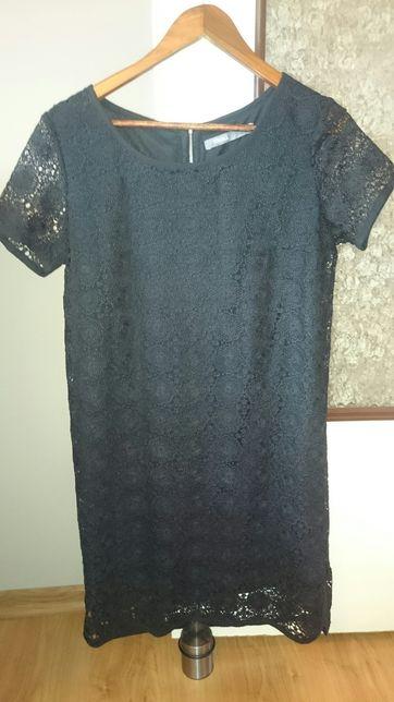 Sukienka Troll czarna, z koronką
