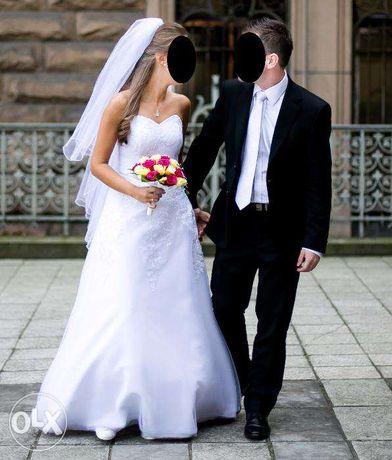Suknia ślubna + welon ŚLICZNA + GRATIS