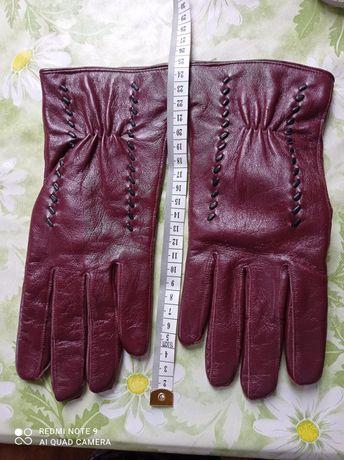 Rękawiczki damskie skórzane r 7