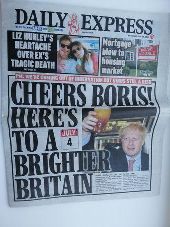 Газета на английском Daily Express